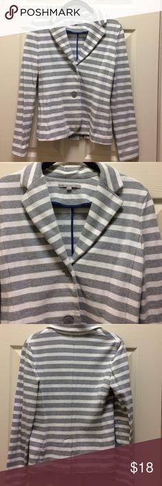 Gap Blazer Lightweight grey and white striped Blazer. 100% Cotton GAP Jackets & Coats Blazers