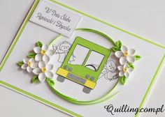 Zagadka! quilling, greeting card, handmade card