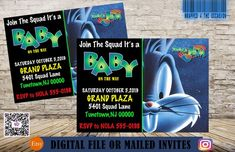 Shower Party, Baby Shower Parties, Baby Showers, Baby Shower Gender Reveal, Baby Boy Shower, Baby Shower Invitations For Boys, Birthday Invitations, Space Jam Theme, Jordan Ones