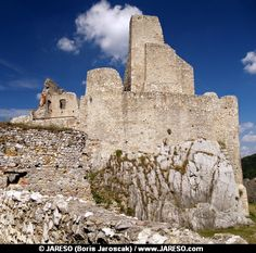 Ruined castle of Beckov situated in village Beckov in the western Slovakia in Trencin region.
