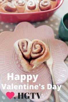Make Heart-Shaped Cinnamon Rolls for Valentine's Day Brunch! >> http://www.hgtv.com/design-blog/entertaining/valentines-day-brunch-heart-shaped-cinnamon-roll-recipe?soc=pinterest
