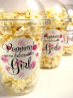 Popcorn Boxes Baby Shower It's a Girl by PoshBoxCouture on Etsy, $23.00