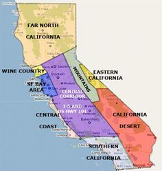 Don't Let California Get You Confused. Places to Go by Area: California Places by Area