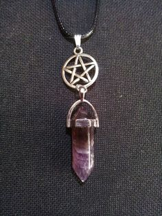 Pentacle Amethyst Necklace + Free Shipping Worldwide,  Amethyst Jewelry, Spiritual Jewelry, Pentacle Jewelry, Pagan Jewelry by OurArtyCreations on Etsy