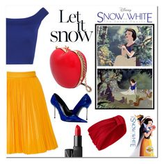 """""""Let it snow"""" by pankh ❤ liked on Polyvore featuring WearAll, MSGM, RED Valentino, Jennifer Behr, Paolo Shoes, NARS Cosmetics, women's clothing, women's fashion, women and female"""