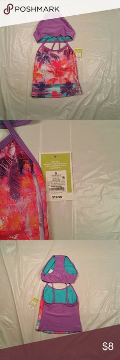 NWT Circo Girl's Bikini UPF 50 Beach Scene NWT Circo girl's bikini. Beach scene with vibrant colors.Very cool! Polyester and Spandex.  Bundle items and save big! Bundle 5 pre-owned items and I'll send the shipping cost back to you. Bundle at least 3 new items and the same applies. Prices negotiable on select items. Smoke free home. Circo Swim Bikinis