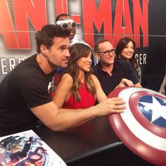 The cast of Agents of Shield at San Diego's ComicCon 2015