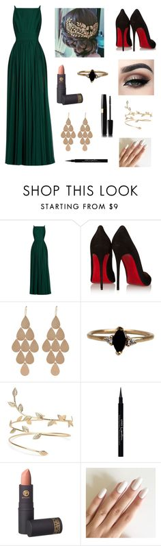 """""""Untitled #235"""" by caro-ine ❤ liked on Polyvore featuring Elie Saab, Christian Louboutin, Irene Neuwirth, LUMO, Givenchy, Lipstick Queen and Tiger Mist"""