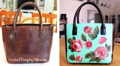 Make Your Own One-Of-A-Kind Découpage Handbag