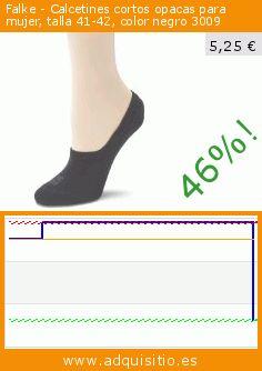 Falke - Calcetines cortos opacas para mujer, talla 41-42, color negro 3009 (Ropa). Baja 46%! Precio actual 5,25 €, el precio anterior fue de 9,80 €. https://www.adquisitio.es/falke/calcetines-cortos-opacas-10