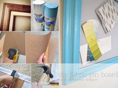 sarah m. dorsey designs: diy fabric pin board for the office + giveaway from my etsy shop!