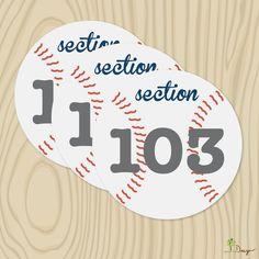 DIY Printable Wedding Baseball Table Numbers - Baseball themed wedding table number. $12.00, via Etsy.