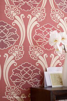 Little Greene Peony Oriental Wallpaper - Cherry - http://godecorating.co.uk/little-greene-peony-wallpaper-in-cherry/