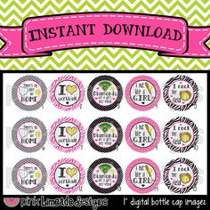 Softball  -- Bottle Cap Art for hair bows or other bottle cap crafts -- $2.00