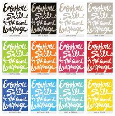 Everyone Smiles / George Carlin quote 8x10 Art door sunnychampagne