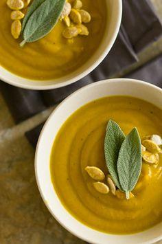 Pumpkin sage turmeric coconut soup