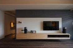 Remarkable Bedroom TV Wall Ideas - Page 24 of 60 Living Tv, Living Room Tv Unit, Home Living Room, Tv Wand Design, Interior Design Living Room, Living Room Designs, Tv Wanddekor, Tv Feature Wall, Bedroom Tv Wall