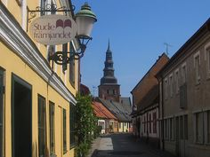 Ystad in Sweden. Want to geek out and see the Wallander sights ;)