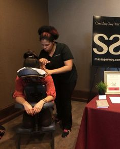 Chair massage at the American Lung Association! American Lung Association, Go Red, Massage Chair, Lunges
