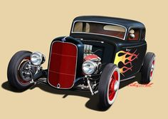 Ford Coupe Hot Rod by GilDunnit.deviantart.com on @DeviantArt
