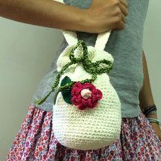 Flower bag!!! www.adriafil.com  #adriafil #yarn #filato #moda #bag #sac #accessories #accessoires #accessorio #flower #fiore #borsa #borsetta #stile #crochet #uncinetto #ganchillo #summer #estate