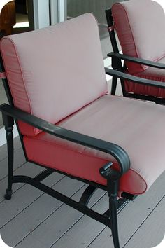 How To Update Your Patio Cushions #diy #tutorial