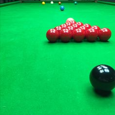 Snooker from the 7 Black
