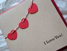 St. Valentines Card - I Love You