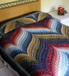 Quilt made in the bargello style. - I'm taking a class next month and these colors are fab!