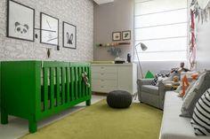 Quarto bebe cinza + verde