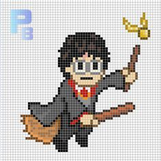 Harry Potter perler pattern - Patrones Beads / Plantillas para Hama