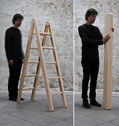 Foldable Corner Ladder, by Company & Company.