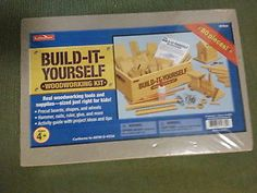 Build It Yourself Woodworking Kit For Kids Ages 4+ Tools/suplies Included - New