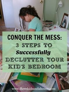 Is the mess in your kids' bedrooms driving you crazy? Do they have too much stuff? Here's 3 steps to teach our kids to successfully declutter their room.