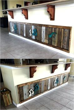 The kitchen is as important as every other area of a home, so it should be adorned well. Here we have presented an idea for an artistic person, who loves to decorate the home with art. This upcycled wood pallet art on Kitchen Island is perfect idea for an impressive look.