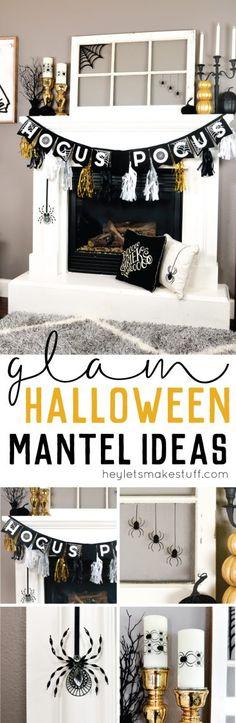 Your Halloween Mantel 3 Ways Modern, Glam Goth  Classic Mantels