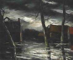 Maurice de Vlaminck (French, 1876-1958), Après la pluie [After the rain]. Oil on canvas, 54 x 65 cm.