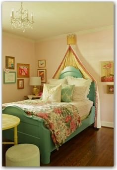 Pretty bed for a girl.