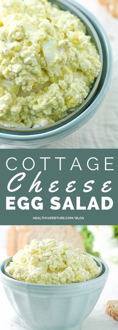 145 cals, 18 G protein- You won't miss the mayo in this protein packed Cottage Cheese Egg Salad recipe.