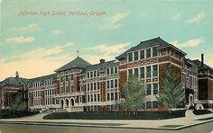 Portland Oregon 1908 Jefferson High School Collectible Antique Vintage Postcard