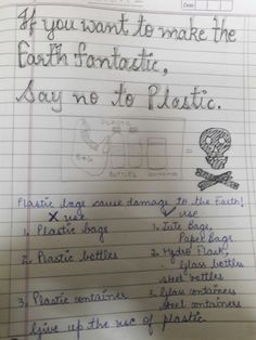 Poster on 'Say no to Plastic Bags ' Water Poster, Poster On, Ocean Projects, Projects To Try, Plastic Bags, Plastic Bottles, Slogans On Save Trees, Unique Facts, Poster Drawing