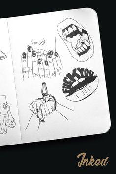 <<<{}>>> Tattoo Drawings, Body Art Tattoos, Art Drawings, Desenho Tattoo, Art Hoe, Dope Art, Art Sketchbook, Art Inspo, Art Sketches
