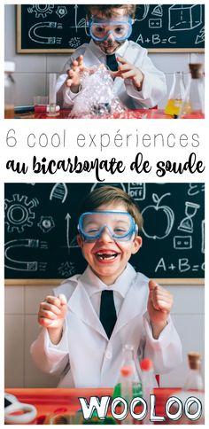 Voici 6 expériences avec du bicarbonate de soude amusantes à faire avec les enfants.