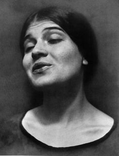 Tina Reciting by Edward Weston, 1924.    He photographed Tina Modotti while she was reciting poetry, in order to capture her expressions while in motion.