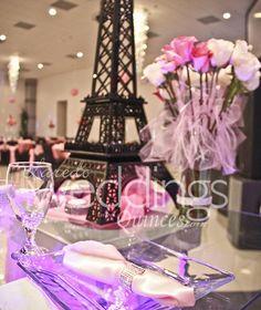 Paris theme quinceanera #centerpieces #paris #balck for more details visit us on http://www.ldoweddings.com/mirage-reception-quince/nggallery/page/2/