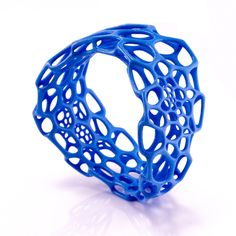 """Wave Bracelet Marine Blue now featured on Fab. Love their jewelry - have a piece - very unique. From """"nervous system"""" Bangles Making, Jewelry Making, Jewelry Box, Used Tires, Marine Blue, Looks Cool, Polymer Clay Jewelry, Tech Accessories, Fashion Accessories"""