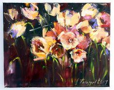 Flower Art, Tulips, Artist, Flowers, Painting, Art Floral, Artists, Painting Art, Paintings