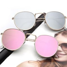 617fd3f42e6ff CANCHANGE 2018 Retro Round Sunglasses Women Brand Designer Sun Glasses For Women  Alloy Mirror Sunglasses female