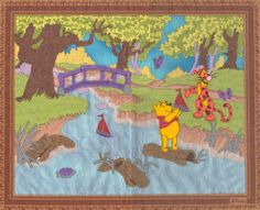Artwork: #embroidery and #laser #applique . Winny the Pooh. Made with GMI laser bridge system