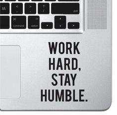 Work Hard Motivational Macbook Pro Air Keyboard Sticker iPad Decal Inspirational